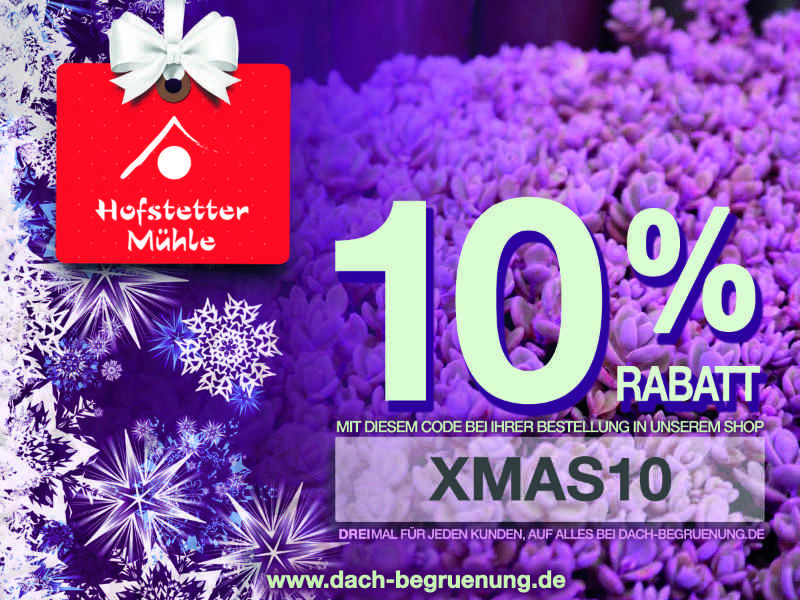 10% Rabattgutschein www.dach-begruenung.de