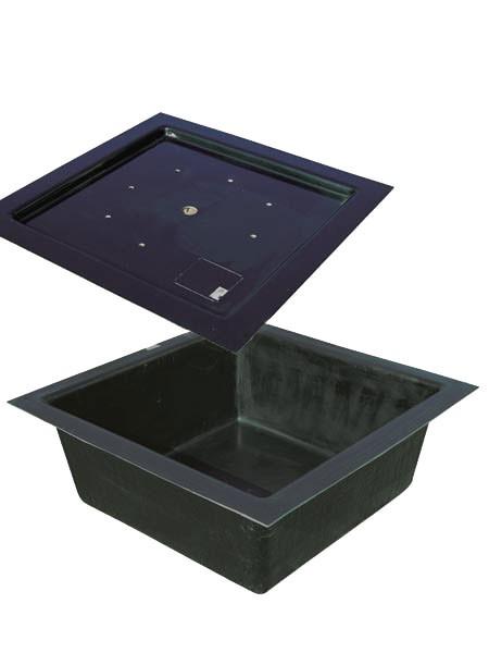 Fiberglas Becken mit und ohne Abdeckplatte für Wasserspiele